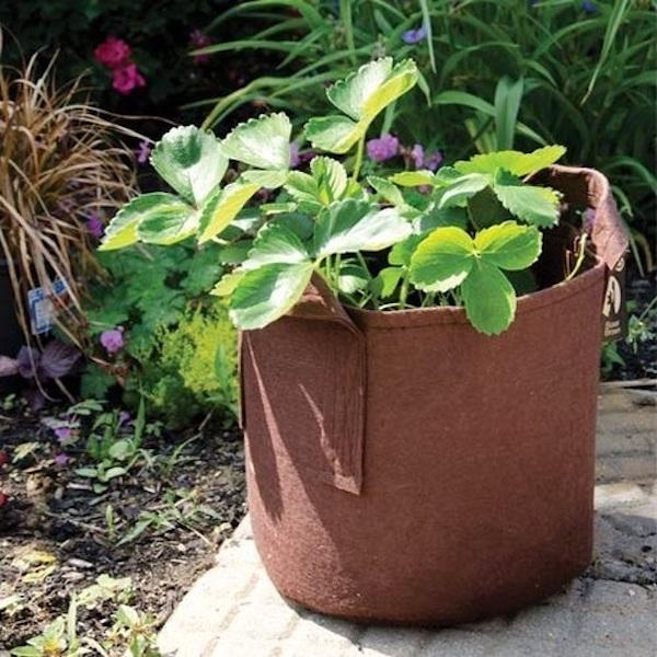 Géotextile Smart grow Pot déco jardin fleurs container Root Pouch noir 18L